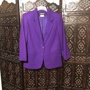 Vintage Purple Blazer Jacket